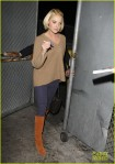 Katherine Heigl signing autographs on Jimmy Kimmel in Hollywood CA