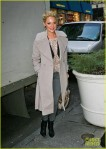 Katherine Heigl arriving to an office building in NYC